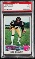 Football Cards:Singles (1970-Now), 1975 Topps Mel Blount #12 PSA Mint 9....