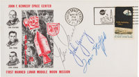 Apollo 10 Crew-Signed Launch Cover Directly from the Family Collection of Astronaut Richard Gordon, with COA