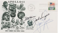 Apollo 13 Flight Crew-Signed Launch Cover Directly from the Family Collection of Astronaut Richard Gordon, with COA