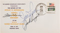 """Explorers:Space Exploration, Apollo 13 Flight Crew-Signed """"Return of the Apollo 13 Astronauts"""" Cover Directly from the Family Collection of Astronaut Richa..."""