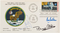 """Apollo 11 Crew-Signed """"First Man On The Moon"""" First Day Cover Directly from the Family Collection of Astronaut..."""