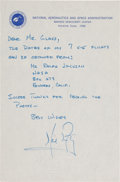 Explorers:Space Exploration, Neil Armstrong Autograph Letter Signed on NASA Letterhead Mentioning His X-15 Flights. ...