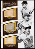 Baseball Cards:Singles (1970-Now), 2015 Immaculate Collection Ty Cobb/Babe Ruth/Lou Gehrig Bat SampleCard #2 Bat Samples Card #15/25. ...