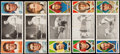 Baseball Cards:Lots, 1912 T202 Hassan Triple Folders Collection (5). ...