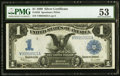 Large Size:Silver Certificates, Fr. 236 $1 1899 Silver Certificate PMG About Uncirculated 53.. ...