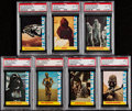 Non-Sport Cards:Lots, 1977 Star Wars Wonder Bread PSA Graded Collection (7)....