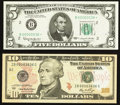 Small Size:Federal Reserve Notes, Fancy Serial Number New York FRNs Two Examples.. ... (Total: 2 notes)