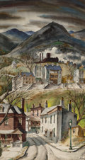 Works on Paper, Henry Martin Gasser (American, 1909-1981). Valley Springtime. Watercolor on board. 29-3/4 x 16 inches (75.6 x 40.6 cm). ...