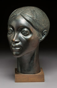 Elizabeth Catlett (American, 1915-2012) Glory, 1981 Bronze with black patina 14 inches (35.6 cm)