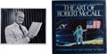 Autographs:Celebrities, Robert McCall Signed Photo with Copy of His Book The Art ofRobert McCall. ...