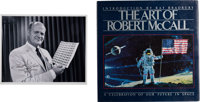 Robert McCall Signed Photo with Copy of His Book The Art of Robert McCall