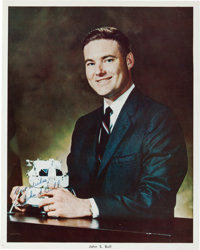 """John S. Bull Signed """"Business Suit"""" Pose Color Photo"""