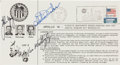Explorers:Space Exploration, Apollo 16 Crew-Signed German-Language Launch Post Card. ...
