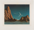 """Explorers:Space Exploration, Chesley Bonestell Signed """"Saturn as Seen from Titan"""" Lithograph. ..."""