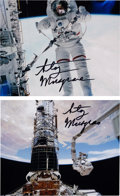 Explorers:Space Exploration, Story Musgrave Signed Space Shuttle EVA Color Photos (Two). ...