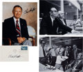Explorers:Space Exploration, Chris Kraft Signed Photos and Mercury Launch/ First Day Cover (Four Items Total). ... (Total: 4 Items)