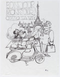 Animation Art:Concept Art, Mickey Mouse - Vespa Concept Drawing Original Art by Carson Van Osten Group of 12 (Walt Disney, c. 2000s).... (Total: 13 Items)