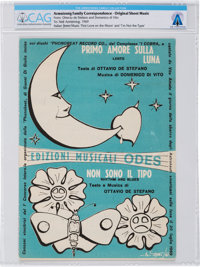 """Apollo 11 Music: """"First Love on the Moon"""" and """"I'm Not the Type"""" Italian Sheet Music and Press Relea..."""