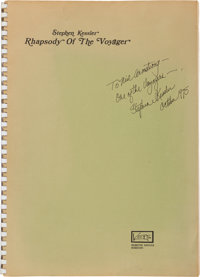 """Apollo 11 Music: """"Rhapsody of the Voyager"""" Signed Manuscript Directly From The Armstrong Family Collection™, C..."""