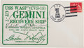 Explorers:Space Exploration, Gemini 7 Crew-Signed Recovery Cover Cancelled Aboard the U.S.S. Wasp....