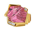 Estate Jewelry:Rings, Pink Tourmaline, Diamond, Gold Ring, Bernd Munsteiner, Susan Helmich . ...