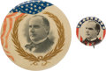 "Political:Pinback Buttons (1896-present), William McKinley: ""Better"" Picture Pins From 1896. ... (Total: 2 Items)"