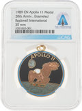 Explorers:Space Exploration, Apollo 11: Rockwell International Apollo 11 20th Anniversary Commemorative Medal Directly From The Armstrong Family Collection...
