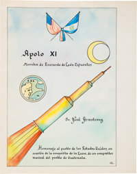"""Apollo 11 Music: """"Apollo XI"""" Spanish Manuscript Directly From The Armstrong Family Collection™, Certified by C..."""