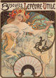 Alphonse Mucha (Czechoslovakian, 1860-1939) Biscuits Lefevre-Utile, 1897 Lithograph in colors on paper 23-3/4 x 17-1/