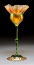 Art Glass:Tiffany , Tiffany Studios Favrile Glass Floriform Vase. Circa 1907. EngravedL.C.T. 3347B. Ht. 13-3/8 in. . ...
