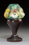 Art Glass:Other , Pairpoint Mahogany and Glass Puffy Fairy Lamp. Circa 1907. MoldedPatented July 8, 1907. Ht. 7-1/2 in.. ...