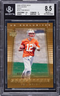 Football Cards:Singles (1970-Now), 2000 Upper Deck Exclusives Tom Brady Gold #254 BGS NM-MT+ 8.5 - Numbered 3/25. ...