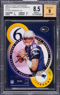 Football Cards:Singles (1970-Now), 2000 Playoff Contenders Tom Brady/Marc Bulger Round Numbers Autographs Gold Numbered 11/60 BGS NM-MT+ 8.5 - 9 Autograph....