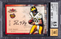 Football Cards:Singles (1970-Now), 2000 Fleer Tradition Tom Brady Autographics Gold Numbered 35/50 #17 BGS NM-MT+ 8.5 - 10 Autograph....