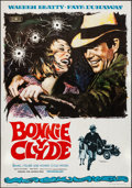 """Movie Posters:Crime, Bonnie and Clyde (Mundial, 1968). Folded, Very Fine-. Spanish One Sheet (27.5"""" X 39"""") Macario """"Mac"""" Gomez Artwork. Crime.. ..."""