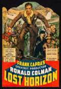 "Movie Posters:Fantasy, Lost Horizon ""Klean-Stik"" Hanger (Columbia, 1937). Trimmed Hanger (7.5"" X 11"") James Montgomery Flagg Artwork. Fantasy.. ..."
