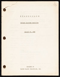 Stagecoach Release Dialogue Continuity Script (United Artists, 1939). Release Dialogue Continuity Script (Multiple Pages...