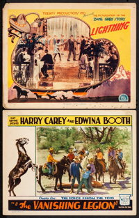 """The Vanishing Legion & Other Lot (Mascot, 1931). Lobby Cards (2) (11"""" X 14"""") Chapter One -- """"The Voic..."""