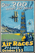 "Movie Posters:Sports, St. Louis International Air Races (1923). Poster (14"" X 21"") Carl Walter Artwork. Sports.. ..."