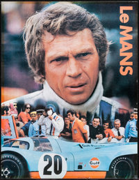 """Le Mans (Cinema Center, 1971). Rolled, Fine+. Gulf Promotional Poster (17"""" X 22""""). Sports"""