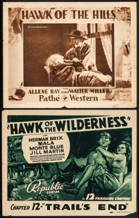 """Hawk of the Wilderness & Other Lot (Republic, 1938). Title Lobby Card & Lobby Card (11"""" X 14"""") Chapter..."""