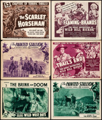 "Wild West Days & Others Lot (Universal, 1937). Lobby Cards (3) & Title Cards (3) (11"" X 14"") Chapter 3..."