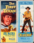 """Movie Posters:Western, The First Texan & Other Lot (Allied Artists, 1956). Rolled, Overall: Fine/Very Fine. Inserts (4) (14"""" X 36""""). Western.. ... (Total: 4 Items)"""