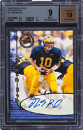 Football Cards:Singles (1970-Now), 2000 Press Pass Tom Brady Autographs #3 BGS Mint 9 - 10 Autograph....