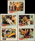 """Movie Posters:Science Fiction, Invisible Invaders (United Artists, 1959). Autographed Title Lobby Card, Autographed Lobby Cards (2), & Lobby Cards (2) (11""""... (Total: 5 Items)"""