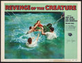 """Movie Posters:Horror, Revenge of the Creature (Universal International, 1955). Autographed Lobby Card (11"""" X 14""""). Horror.. ..."""