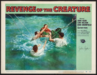 """Revenge of the Creature (Universal International, 1955). Autographed Lobby Card (11"""" X 14""""). Horror"""