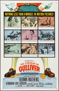 """The 3 Worlds of Gulliver (Columbia, 1960). One Sheet & Title Lobby Card (27"""" X 41"""" & 11"""" X 14&quo..."""