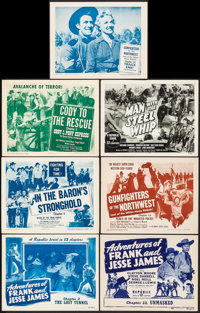 Adventures of Frank and Jesse James & Other Lot (Republic, 1948). Very Fine. Title Lobby Cards (5) & Lobby Cards...