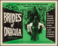 "Movie Posters:Horror, Brides of Dracula (Universal International, 1960). Half Sheet (22"" X 28""). Artwork by Joseph Smith. Horror.. ..."